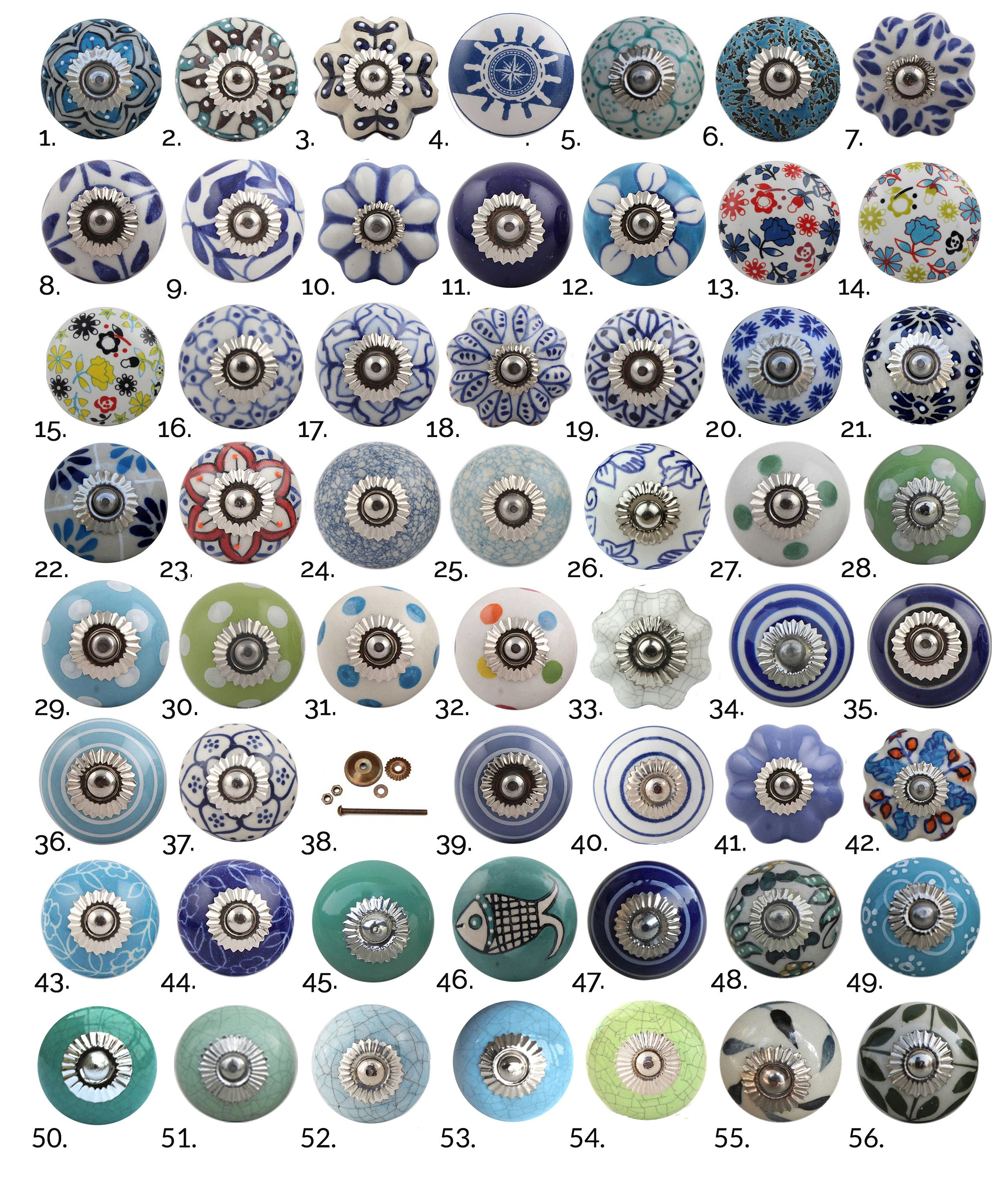 Blue Green Ceramic Cabinet Knobs  Furniture Door Knobs in Various Designs  China Drawer Pulls Kitchen Cupboard Handles
