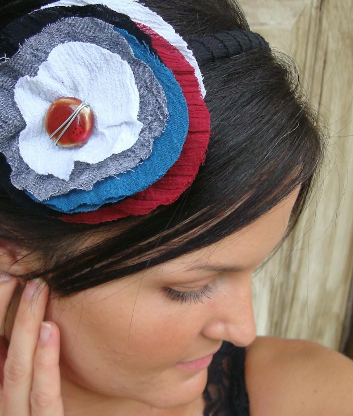 ESKI CIRLE HEADBAND RED WHITE AND BLUE