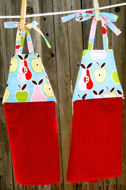 Apples & Pears Remarkable Hanging Dish Towels