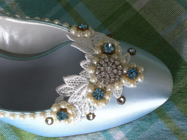 Something Blue Bridal Shoe