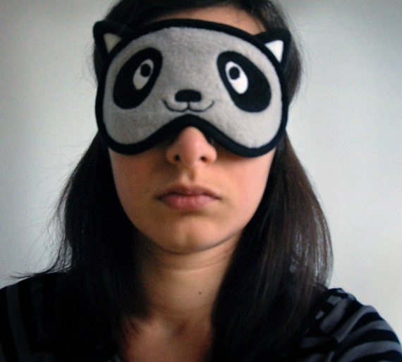 Racoon Sleep Mask - Kawaii Animal Costume Eye Mask - PomponDesigns