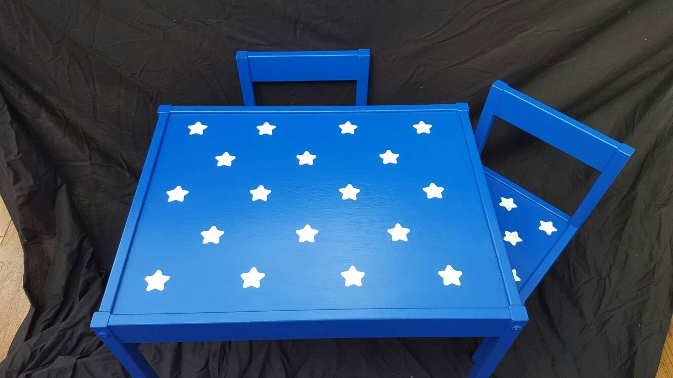 Childrens Table and Chairs Kids Bedroom Wooden Hand Painted Gift for Children