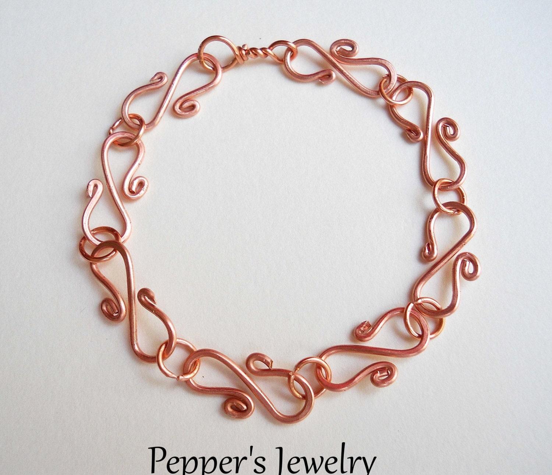 items similar to copper link bracelet solid copper