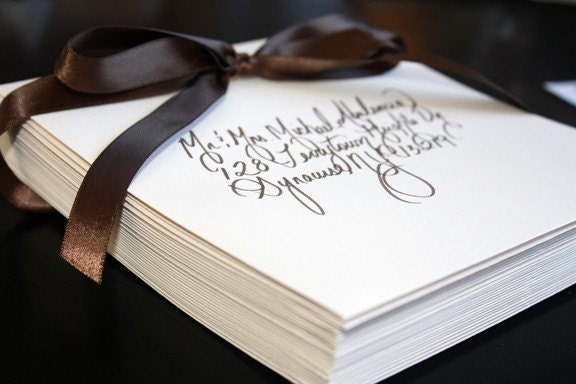Custom Calligraphy Wedding or Party Invitations, Placecards and more