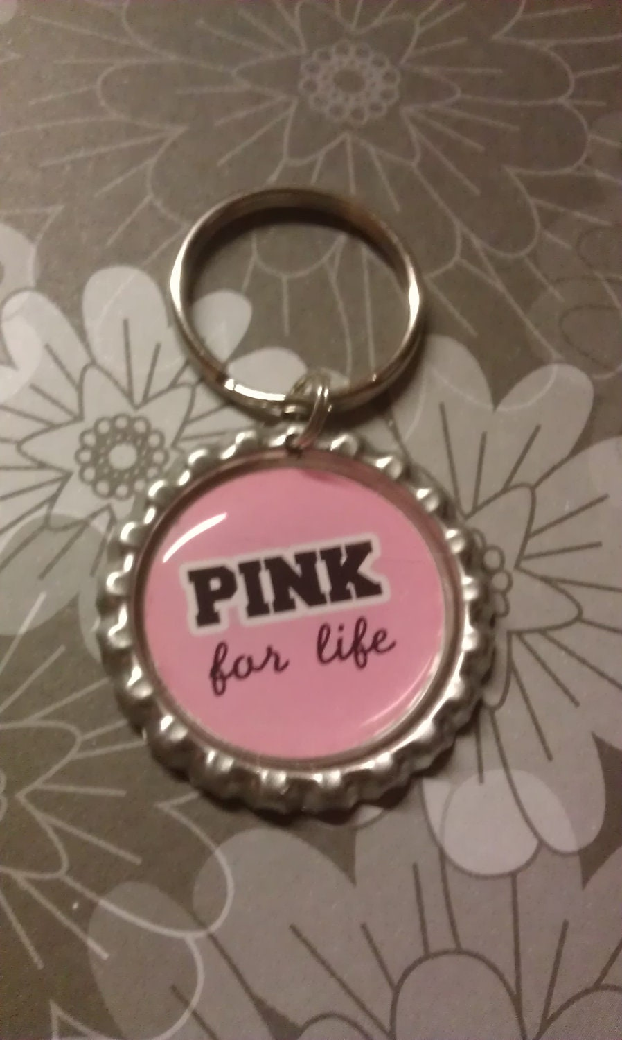 Cancer keychain breast