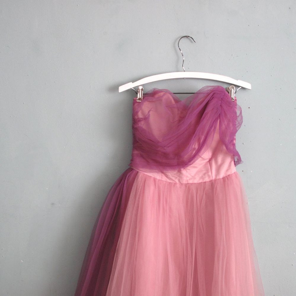 1950's vintage LILAC TULLE party dress