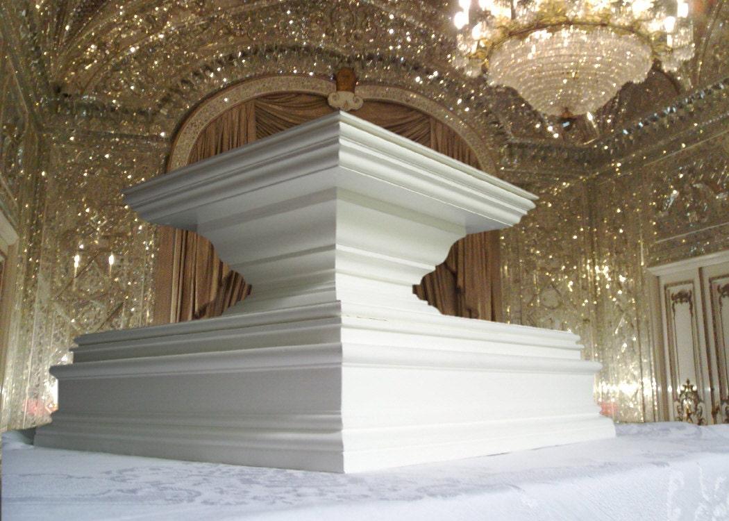 grand classic wedding cake stand square pedestal elegant wedding