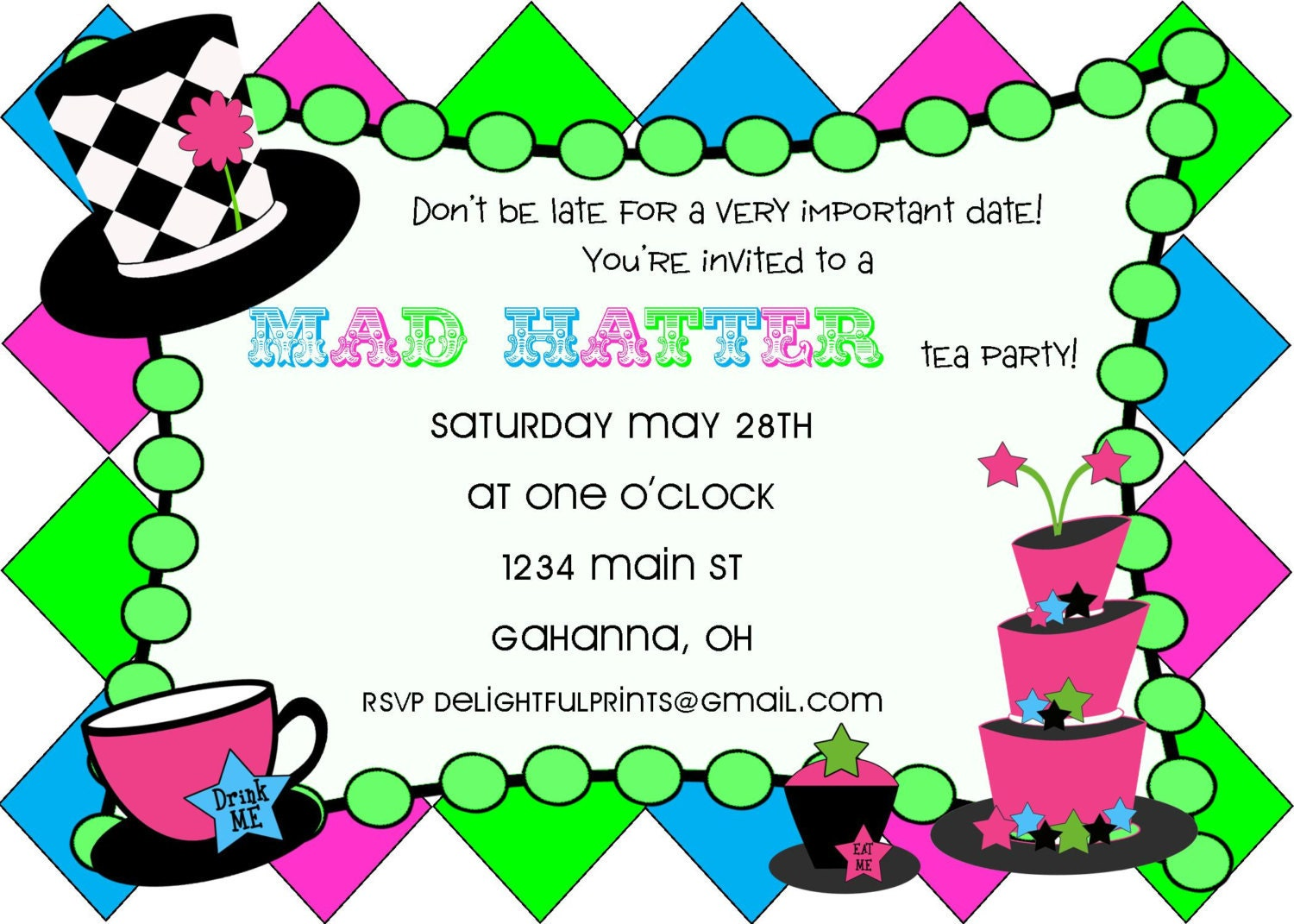 Mad Hatter Tea Party Baby Shower images