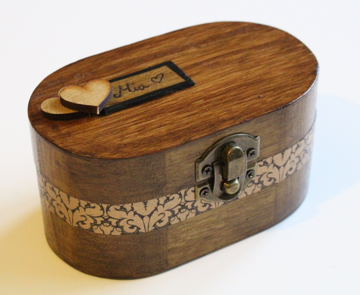 Items similar to hand made personalized music box for Custom made ring box