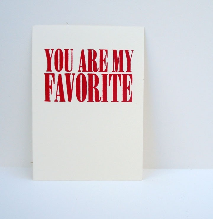 you are my favorite mini print - red