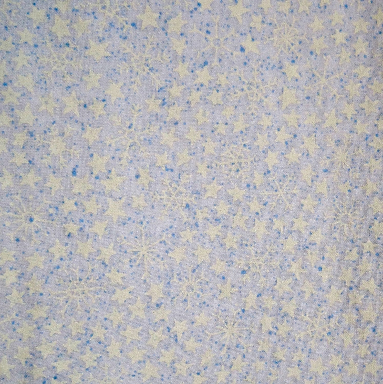 Snowflakes Fabric - Cotton - 1 Yard - Pre-Washed