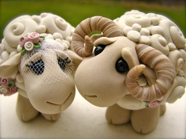 I Love Ewe Custom Keepsake Wedding Cake Topper