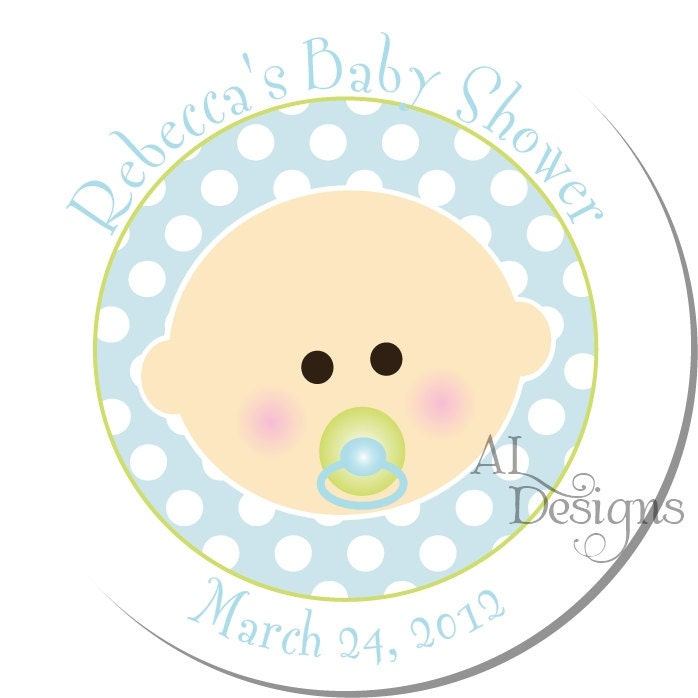 personalized baby shower stickers baby boy by autumnleah on etsy
