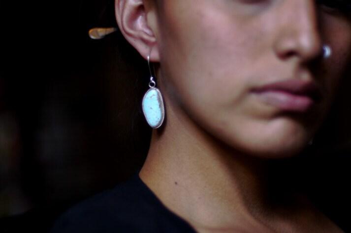 No. 8 Turquoise Earrings