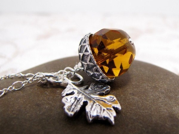 Acorn Necklace Autumns Harvest