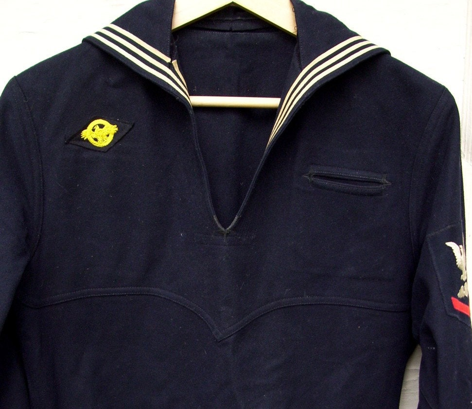 genuine WWII US NAVY UNIFORM winter blues ANTIQUE