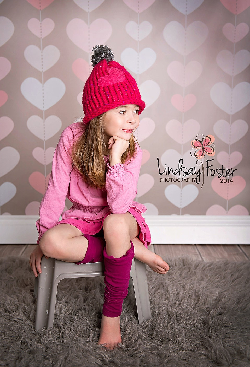 Valentine's Day sparkly sequin knit hat with heart - knitwhitscouture