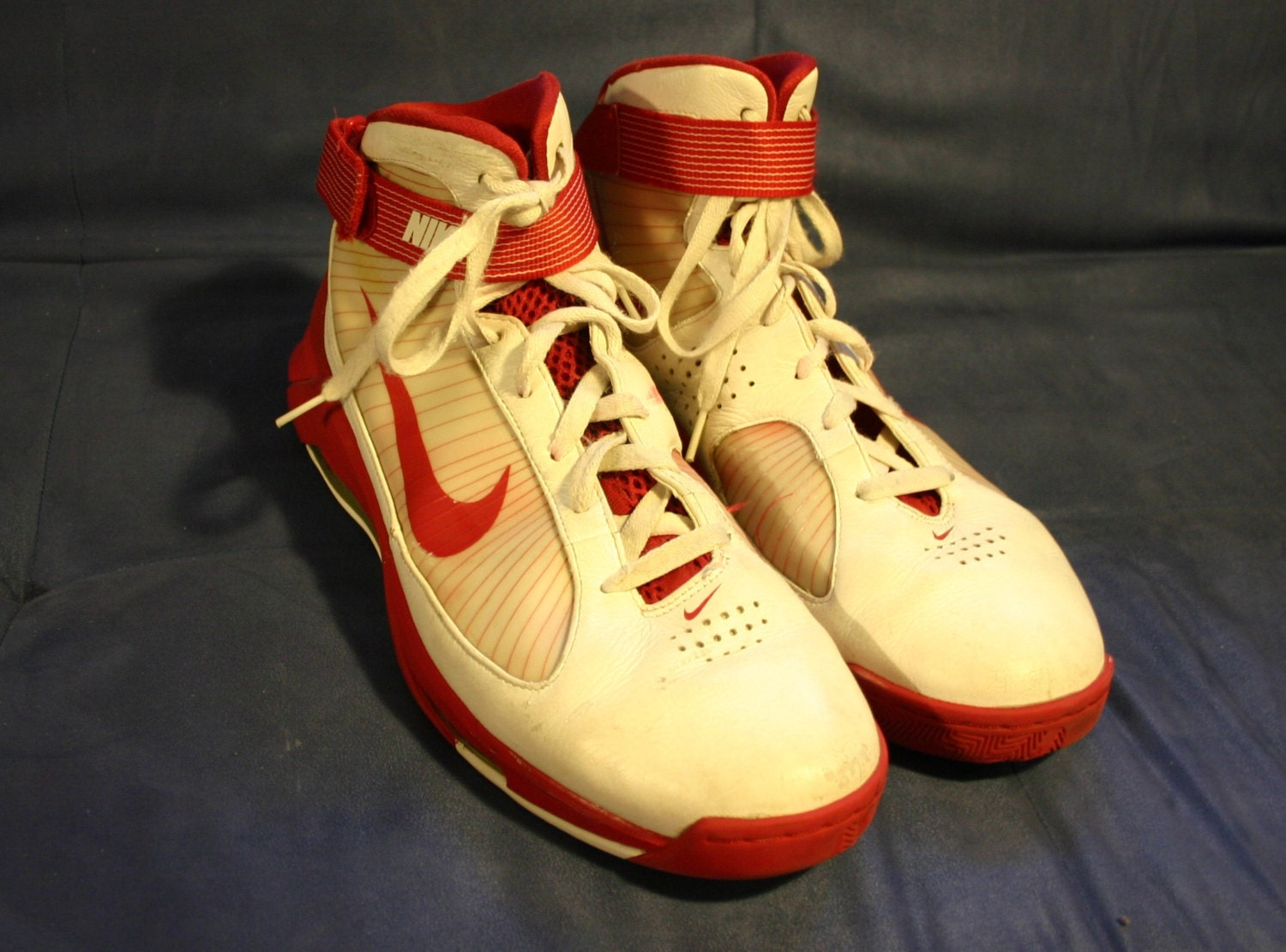 Size 14 Nike Old School Red and White High by DMVintageShowroom 70%OFF