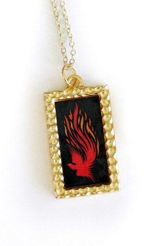 Custom Phoenix Flame Art Pendant