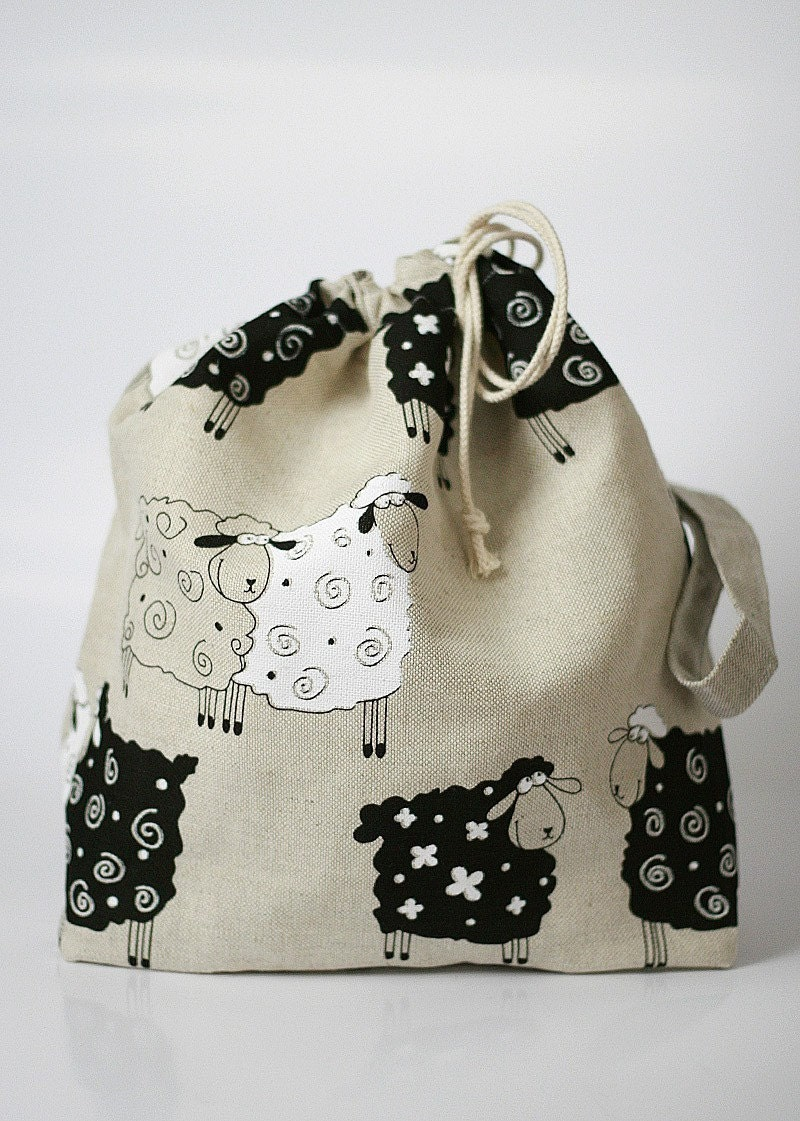 Knitting Project Bag. LUCKY SHEEP by KnitterBag
