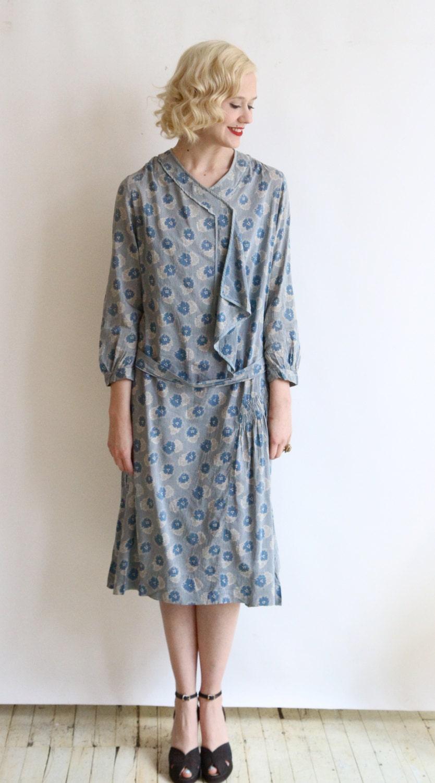 1920s Dress // vintage 20s day dress // Cotton by ...