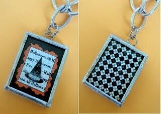 WITCH'S HAT HALLOWEEN SOLDERED ART PENDANT