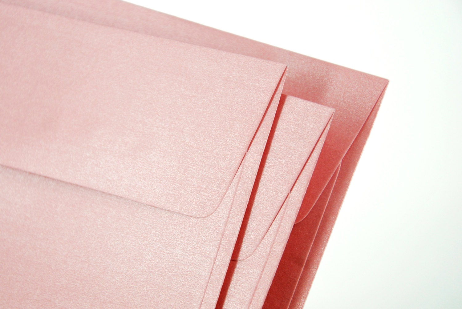 "A7 (5x7) Metallic Pink Envelopes - Perfect for 5""x7"" party invitation (pack of 10 or 20) - SQUISHnCHIPS"