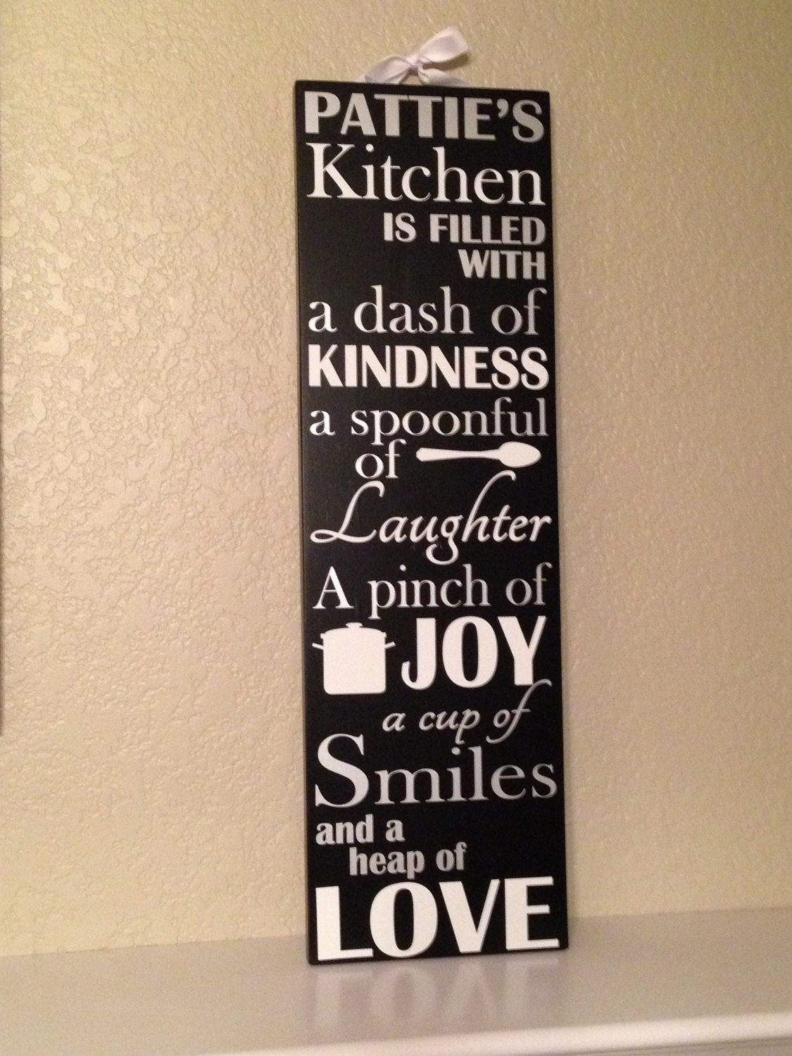 Personalized Kitchen Sign By Picketfencesigns On Etsy