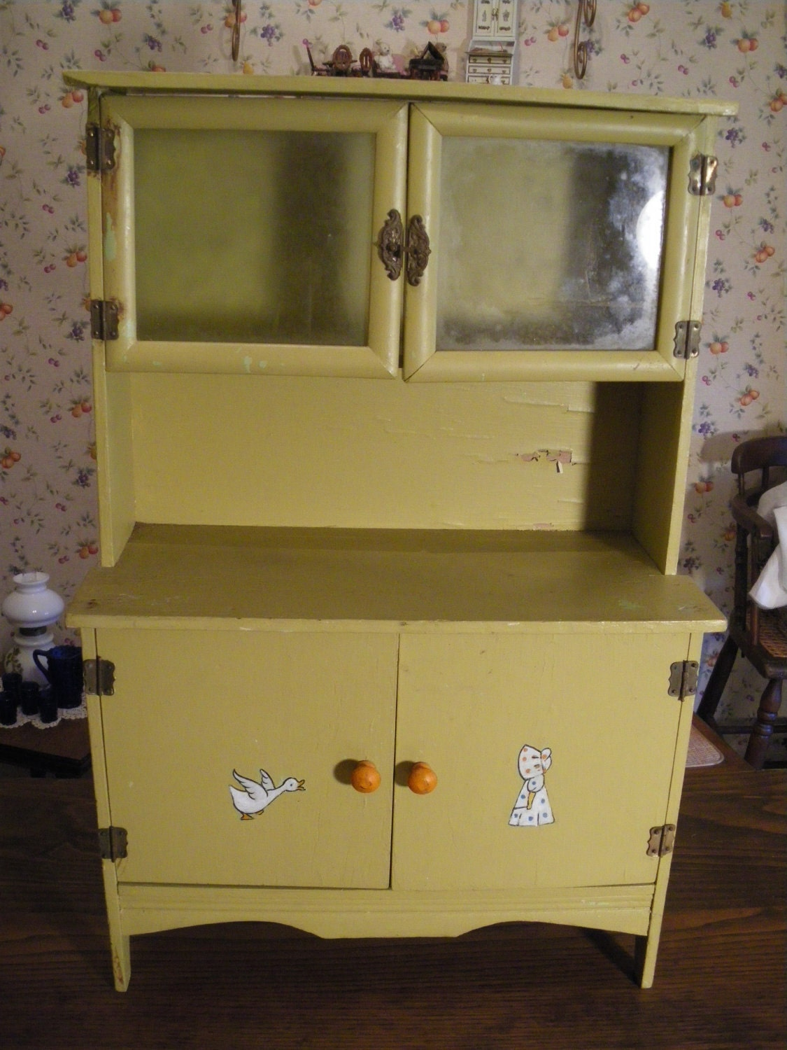 Half Price SALE Antique Child's Kitchen Cabinet by TheVintageRobin