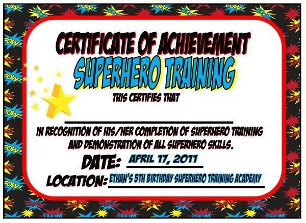 items similar to superhero training certificate batman