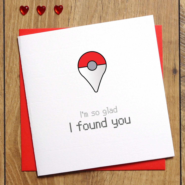 Pokemon Go Card Im So Glad I Found You Pokeball