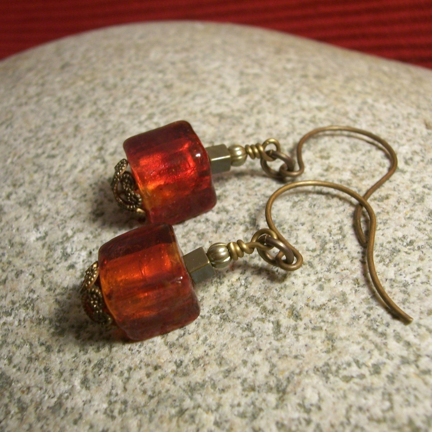 Red Ice Earrings