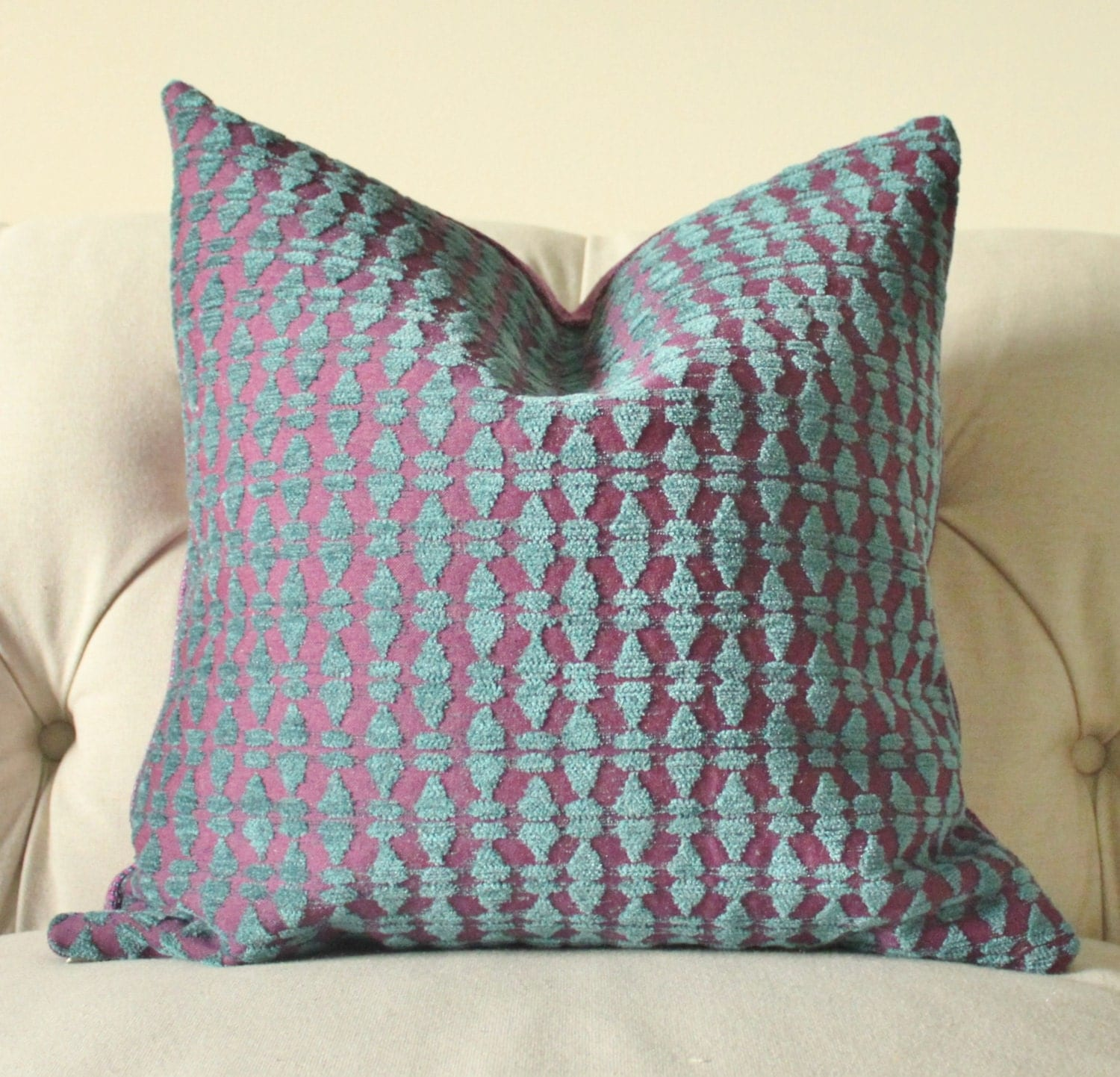 Turquoise And Purple Decorative Pillows : Unavailable Listing on Etsy