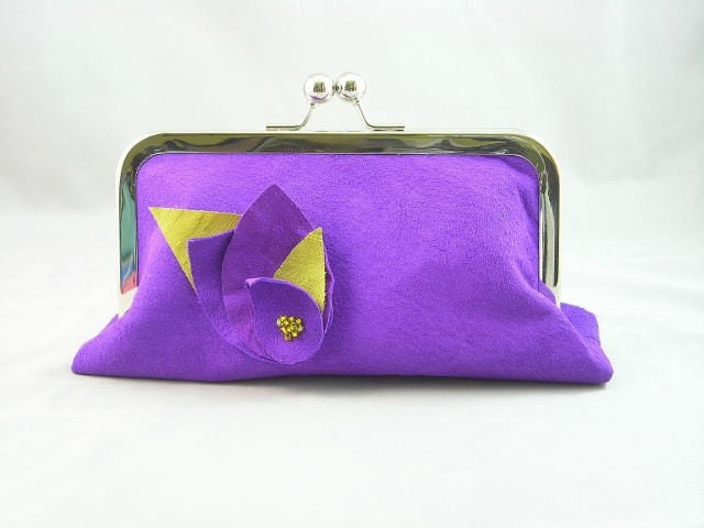 Pleasure - Medium (6 inch) Suede Leather Clutch in Purple by mabellecherie on Etsy from etsy.com