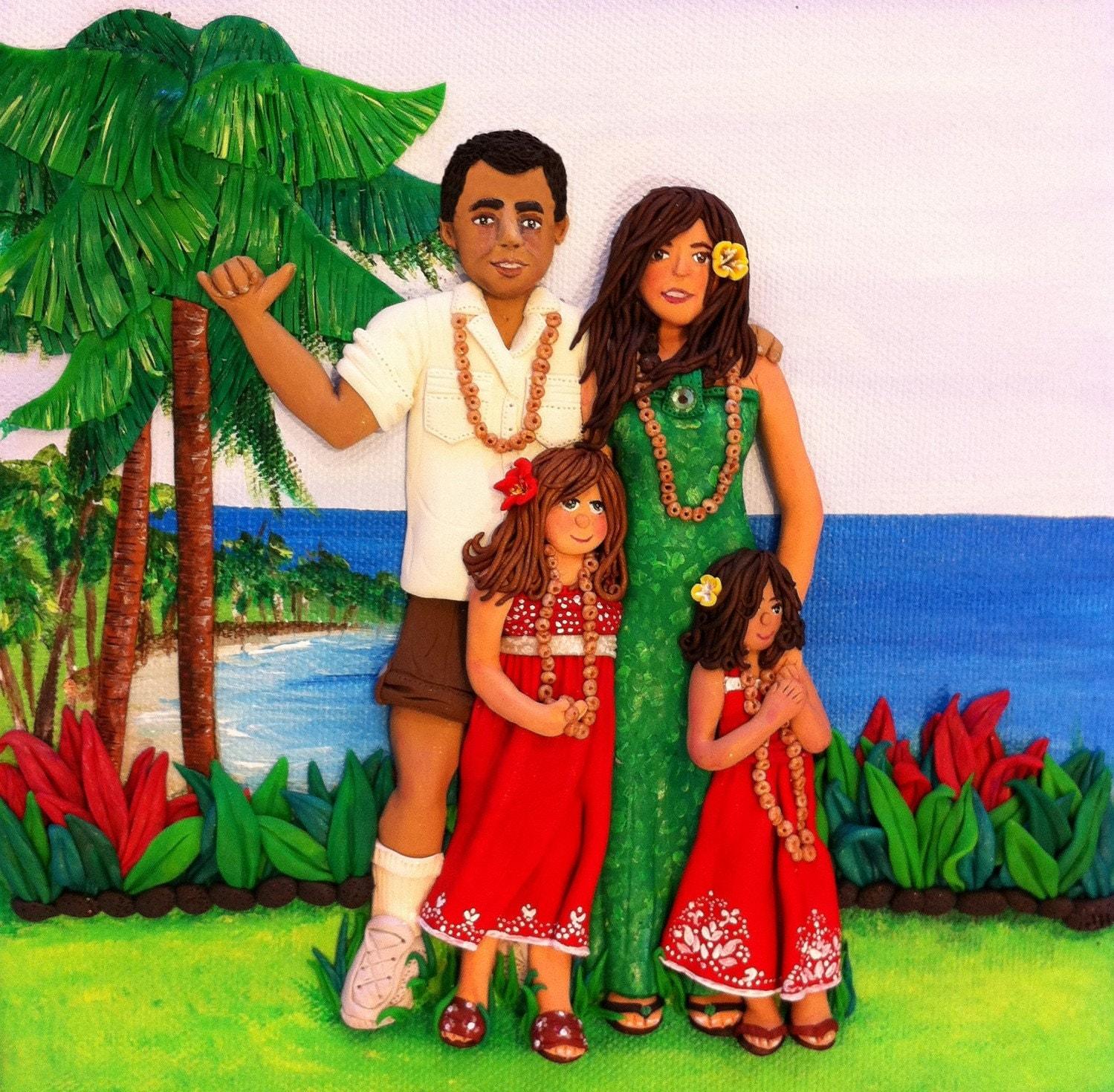 Custom Family Portrait, 3D Art