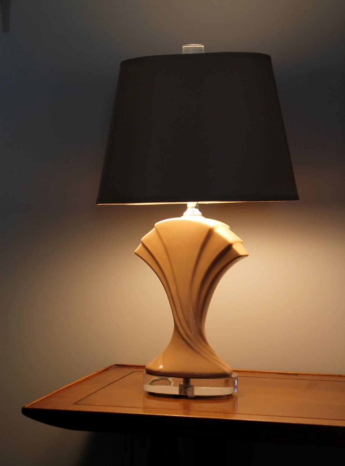 Retro Art Deco Table Lamp 70s 80s Glamour By Rhanvintage