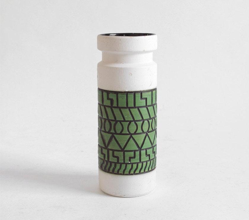 Vintage Pottery Vase - Mid Century, Modern, West German, Retro, Eames - Hindsvik