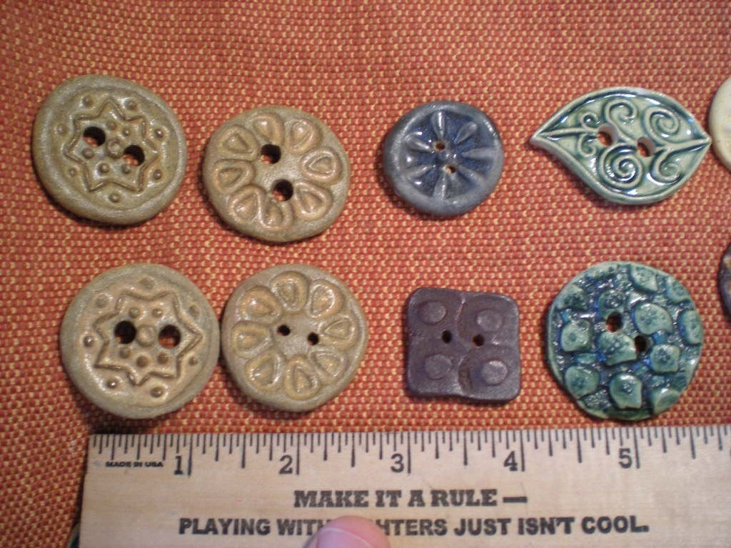 50 assorted large ceramic buttons CLEARANCE PRICED