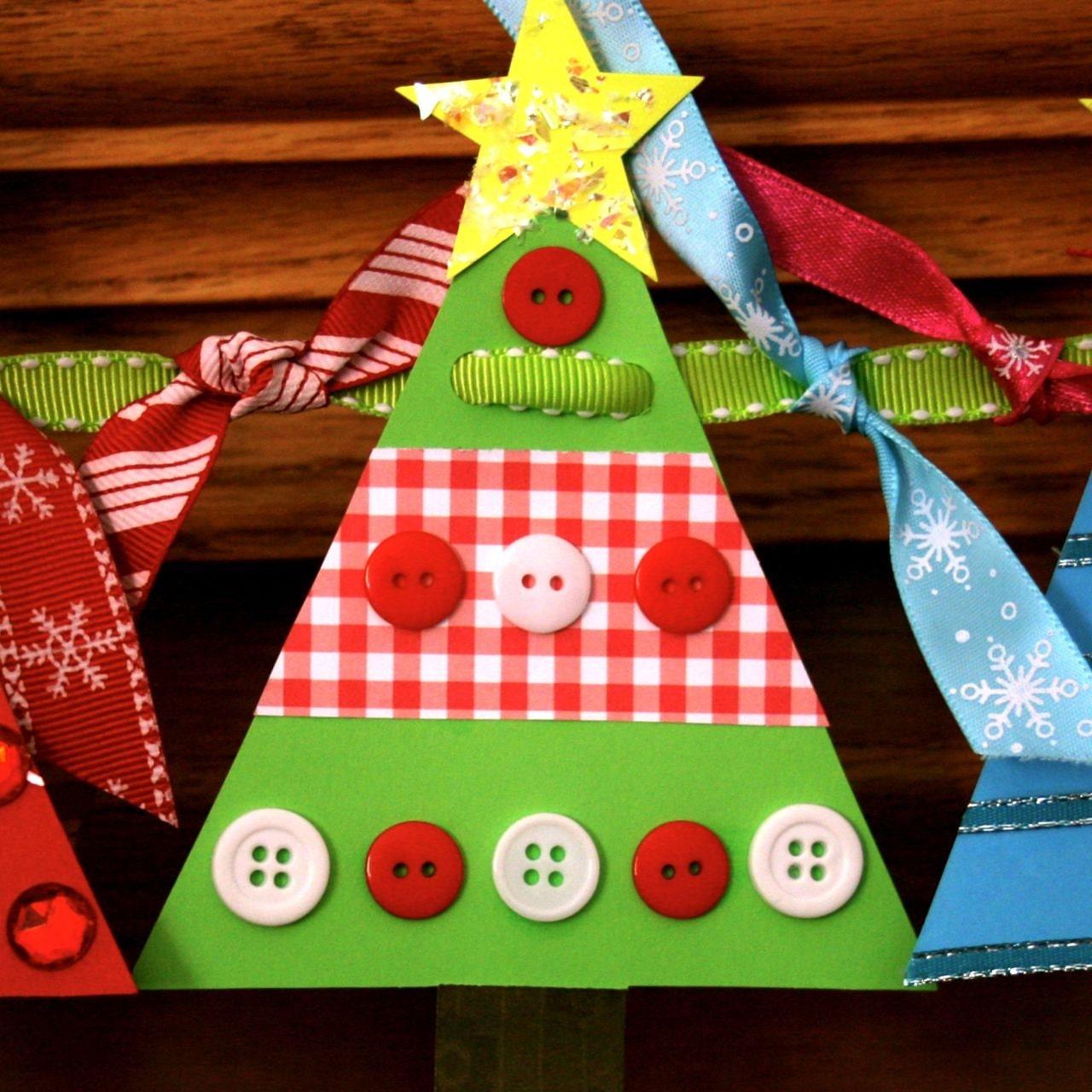 Christmas Tree Banner Craft Kit - SmartBottomKids