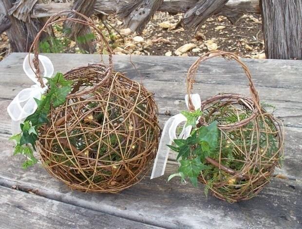 Natural Wedding Firefly Lantern/ Basket