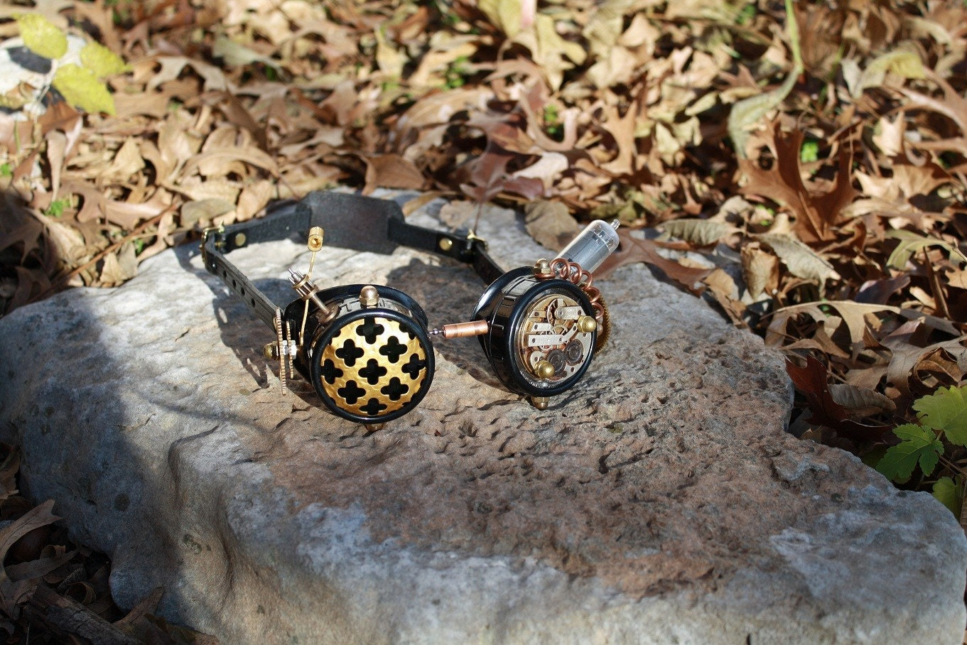 Brass and Gears Steampunk Goggles