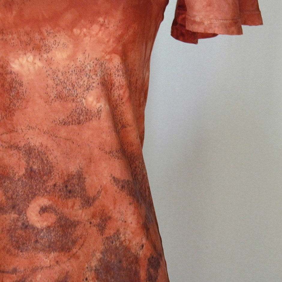 Terra Cotta and Wrought Iron Atomic Lace Top