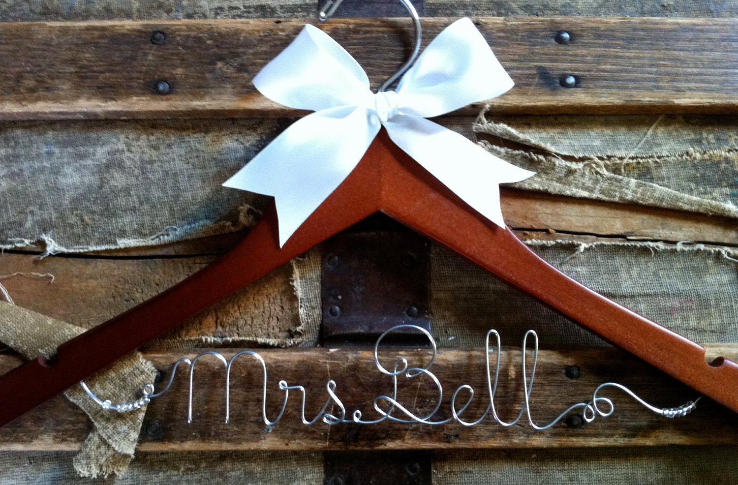 PERSONALIZED HANGER, for a Bride, Makes a lovely gift for Bridesmaid or Graduate
