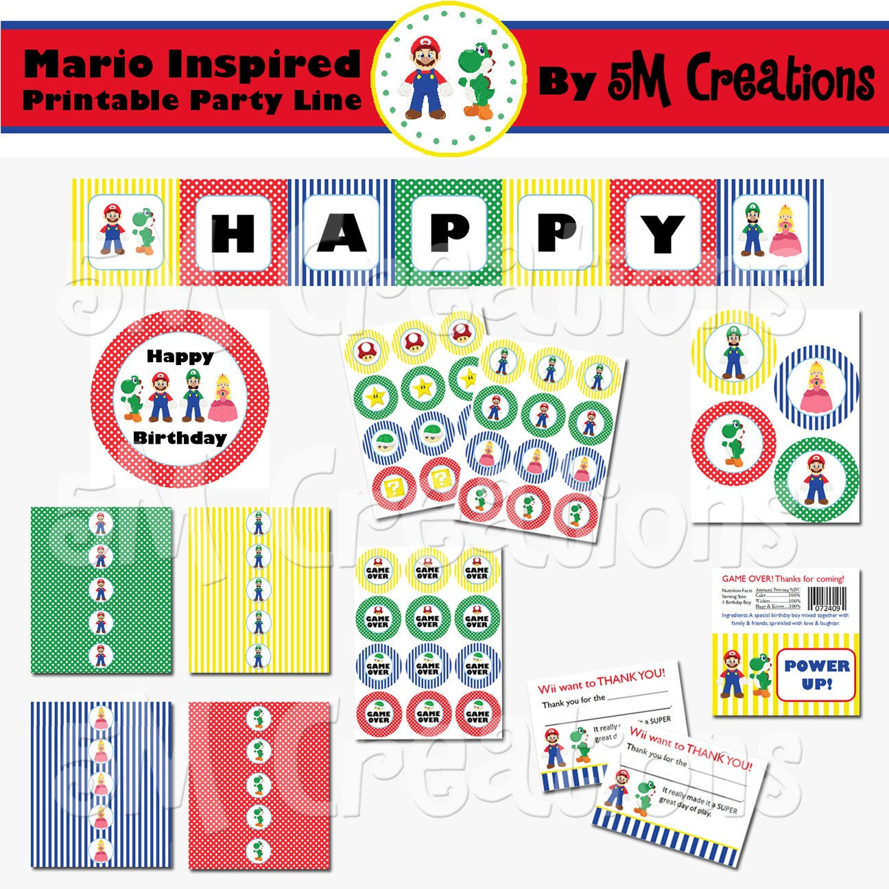 Party Package - Mario Birthday Party - Super Mario Printables ...