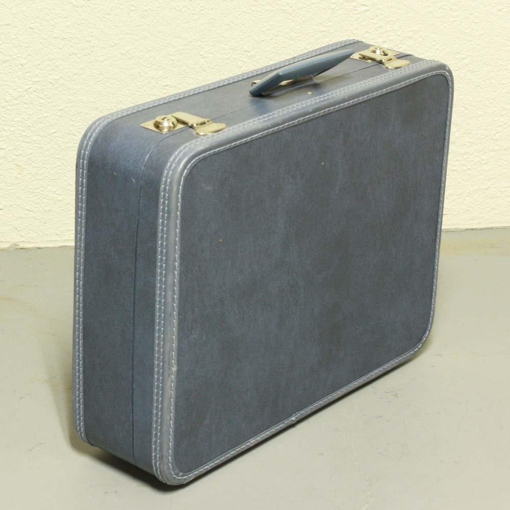Vintage suitcase - blue - luggage - hardside