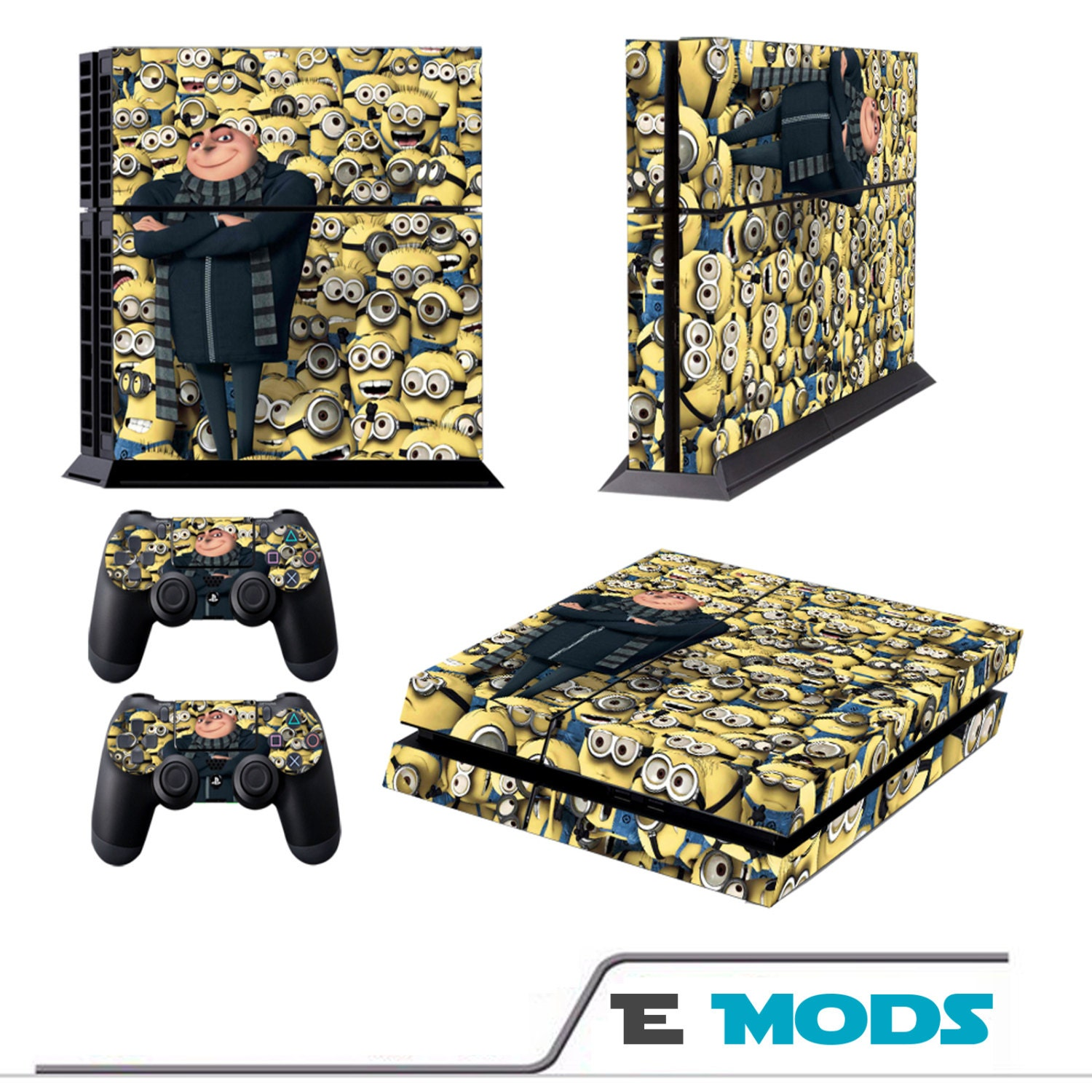Despicable Me Minions Playstation 4 PS4 Console Skin Vinyl Graphic decal  2 controller stickers