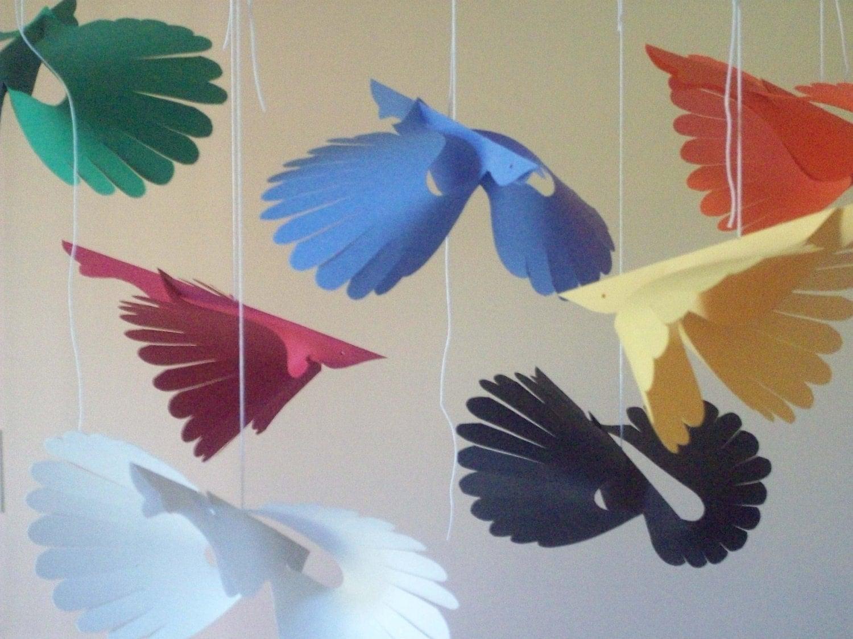 Paper Birds Seven Primary Flying Paper