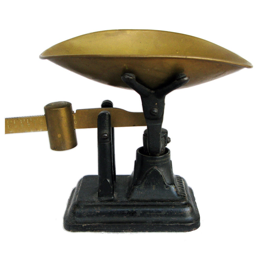 Country Kitchen Fairbanks: Antique Fairbanks Scale Brass And Cast Iron By
