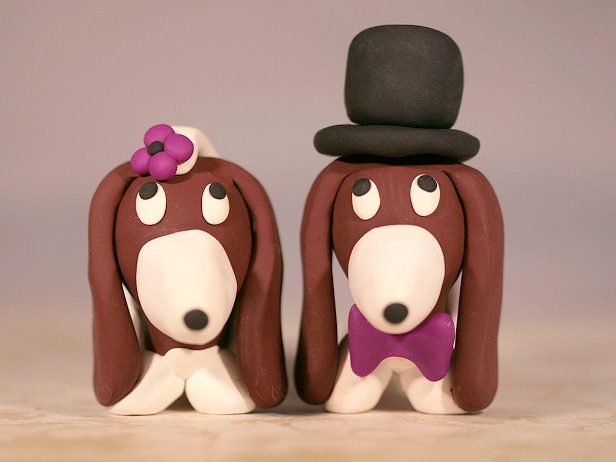 Basset Hound Wedding Cake Topper