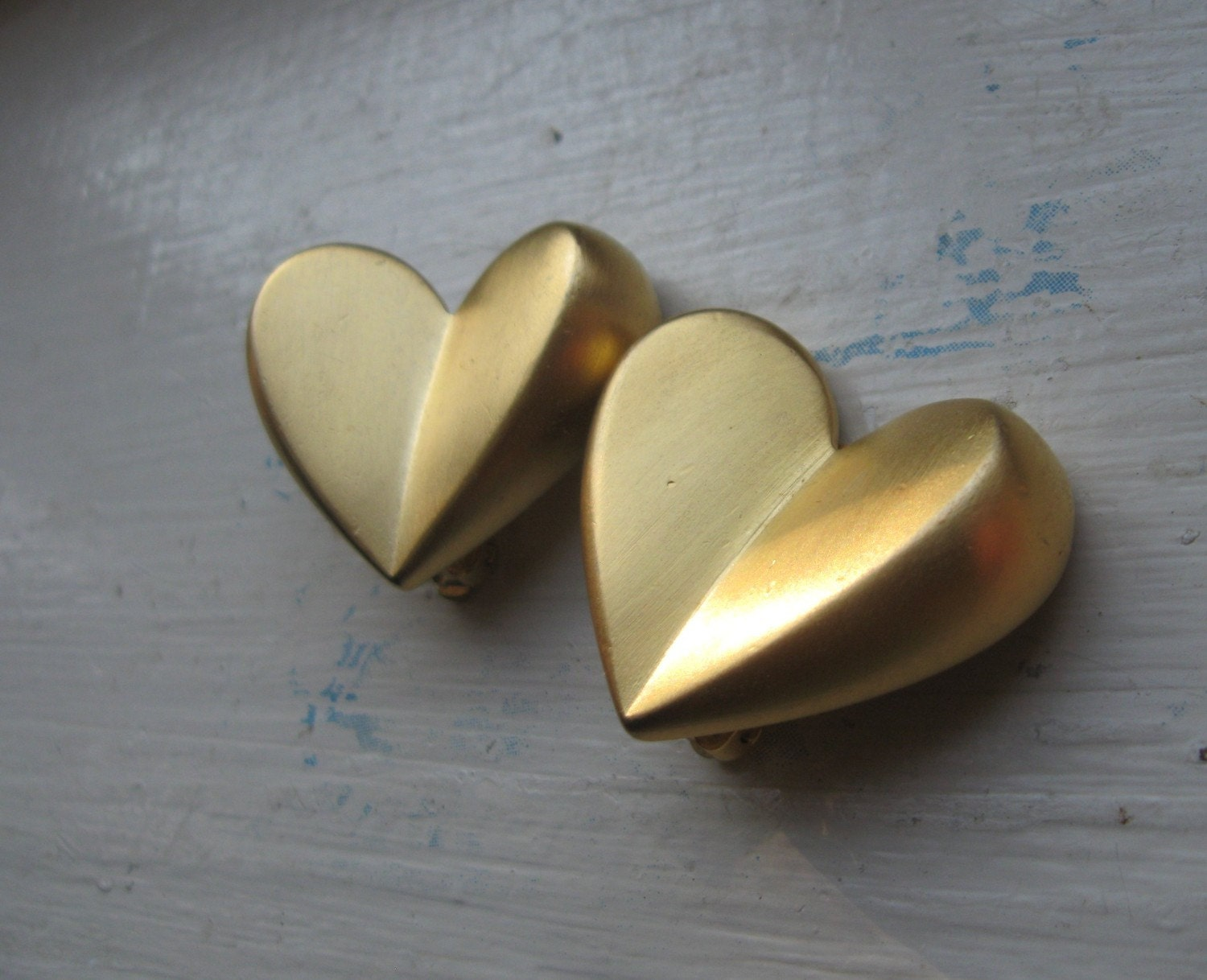 Vintage Givenchy Satin Heart Earrings